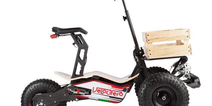 Трехколесный электросамокат с сиденьем El-Sport Black Dragon double drive 2000W