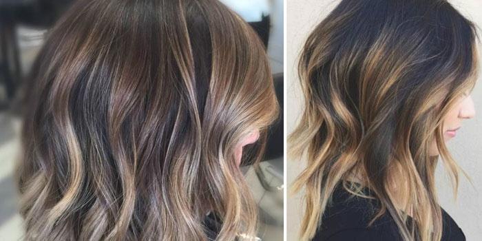 Волосы, окрашенные в технике балаяж