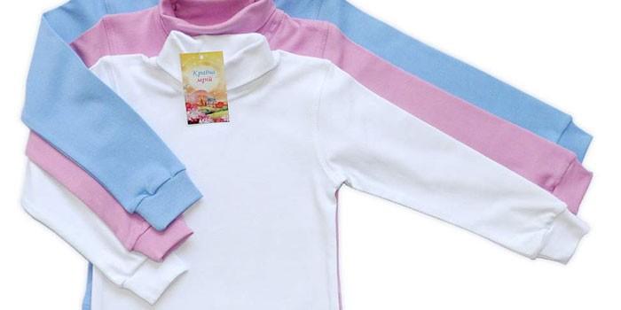 водолазки для детей из ткани интерлока