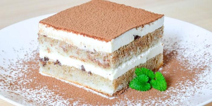 Тирамису рецепт с бисквитными коржами рецепт