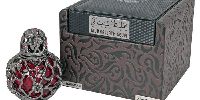Флакон и коробка духов Mukhallath Seufi
