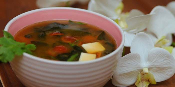 Мисо-суп с острым перцем и тофу