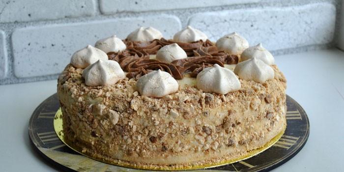 Приготовленный по ГОСТу домашний торт Полет