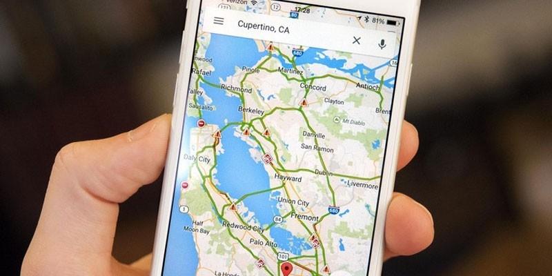 Карта на смартфоне