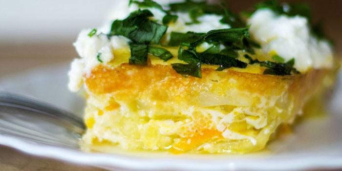 Запеканка из кабачка, картофеля и яиц