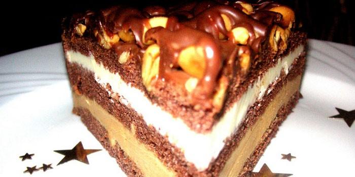 Торт сникерс рецепт классический