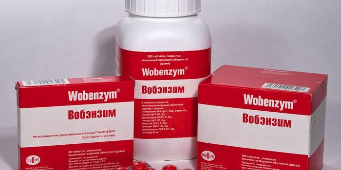 Препарат Вобэнзим разных форм выпуска