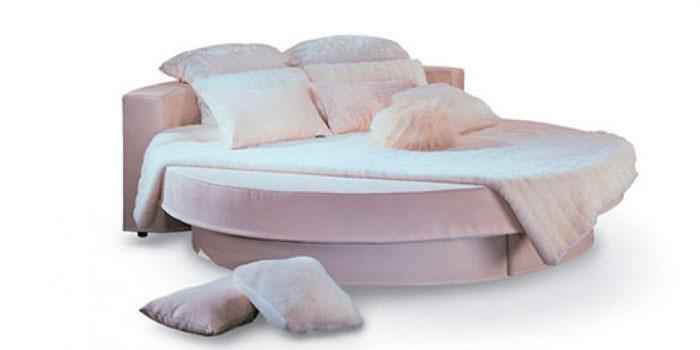 Круглая кровать с подъемным механизмом Соло люкс