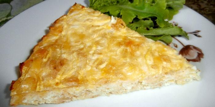 Кабачковая запеканка с сырной корочкой