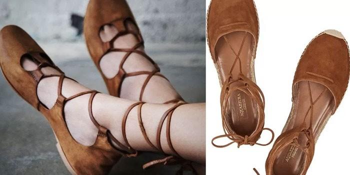 Летняя обувь в стиле бохо