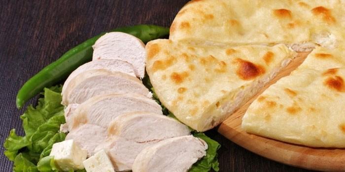 С курицей и сыром