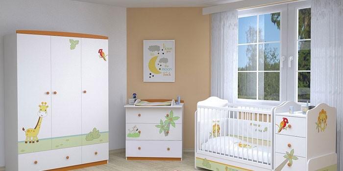 Набор мебели для детской комнаты Polini Basic Джунгли