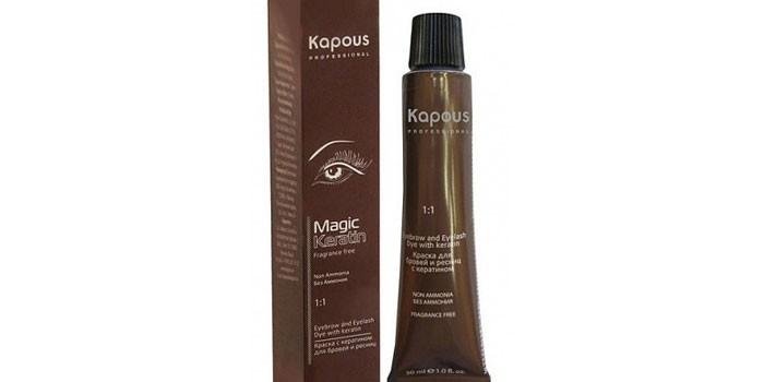 Упаковка краски для бровей Kapous Magic Keratin