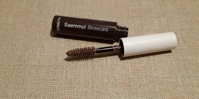 Темно-коричневая тушь для бровей  Saemmul Browcara
