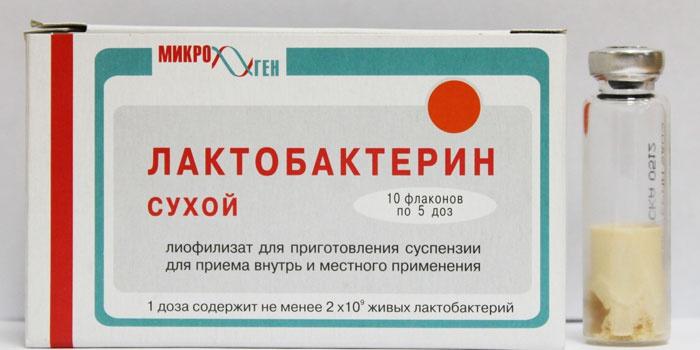 Препарат Лактобактерин в ампуле