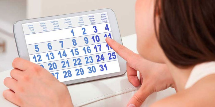 Календарь на планшете