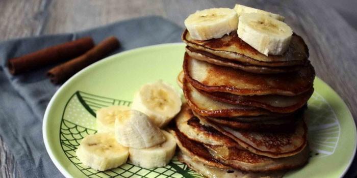 Жареные банановые оладушки