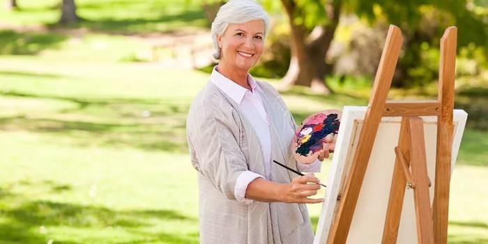 Занятие живописью на природе