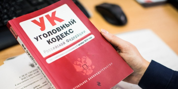 Уголовный Кодекс РФ в руках