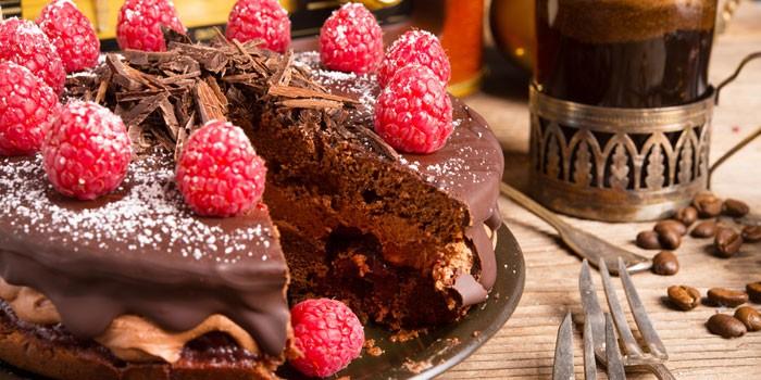 Шоколадный из замороженной малины