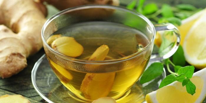 Чай с имбирем и медом для похудения