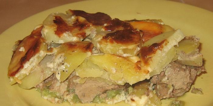 Из картофеля и печени