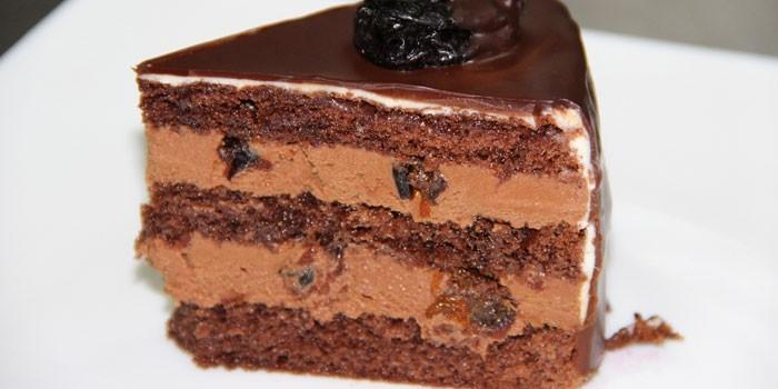Бисквитный с масляно-шоколадным кремом