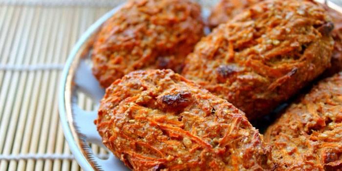 Морковное печенье на сметане