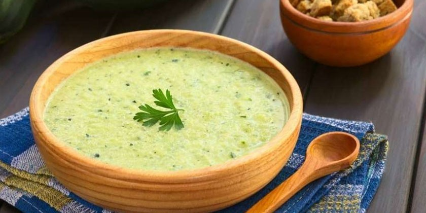 Суп-пюре из капусты и кабачков