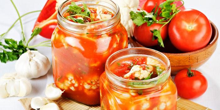 В томатном соке