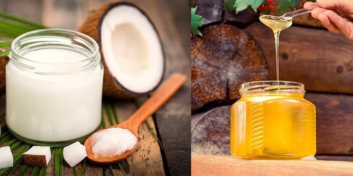 Мед и масло кокоса