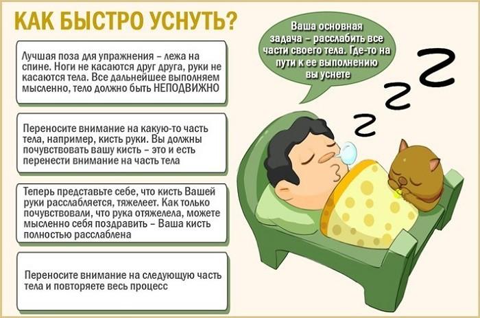 Способы для быстрого засыпания