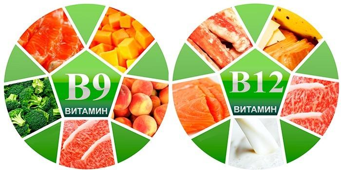 Витамины В9 и В12