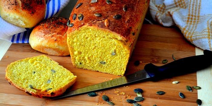 Хлеб с семенами тыквы