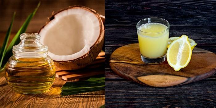 Кокосовое масло и лимонный сок