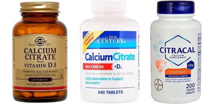 Таблетки цитрата кальция